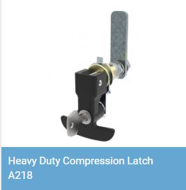 Heavy duty lift and turn compression latch A218