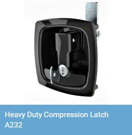 Heavy duty lift and turn compression latch A232