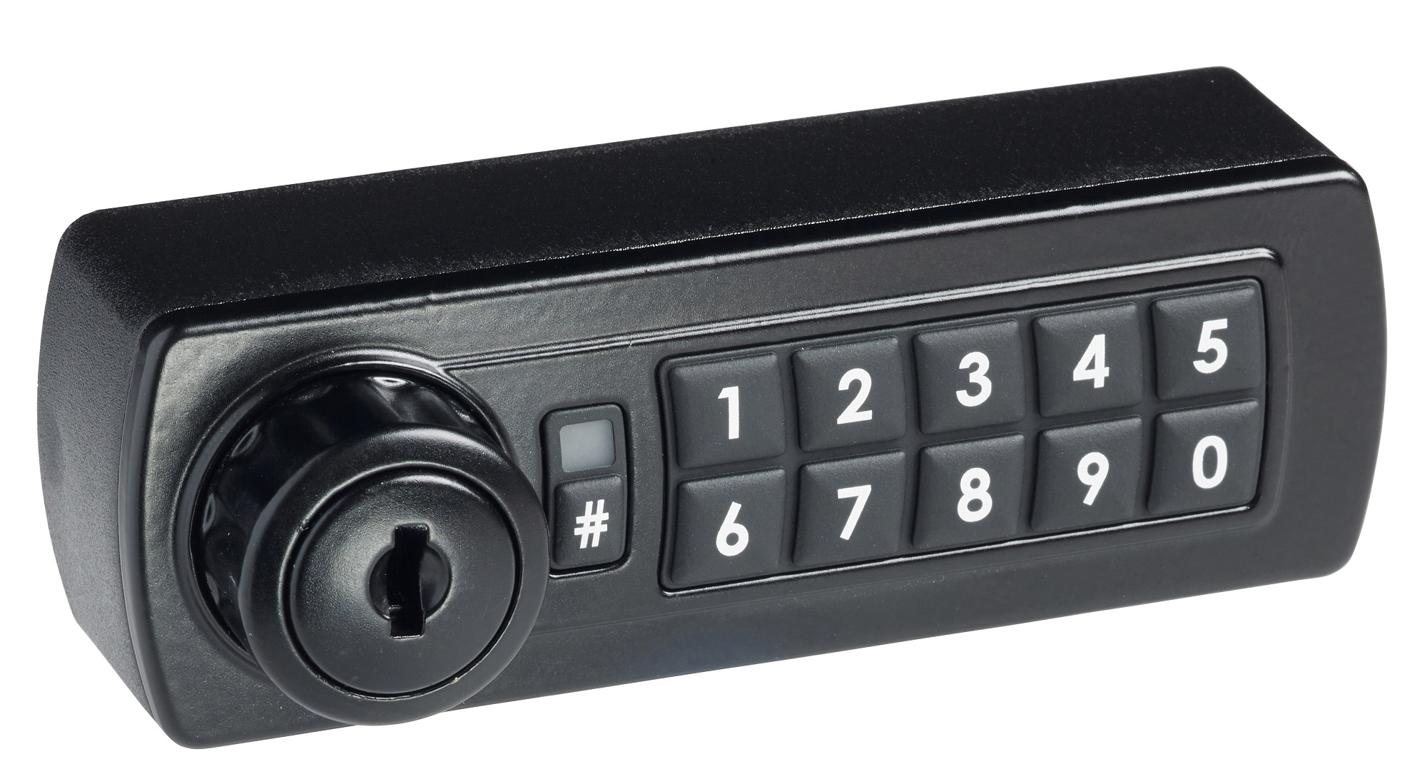 Gemini Surface Mount Digital Lock available in Black